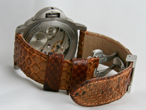 Marina Militare on Python leather strap