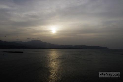 野柳日落風景。