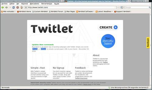 un camino rápido a twitter