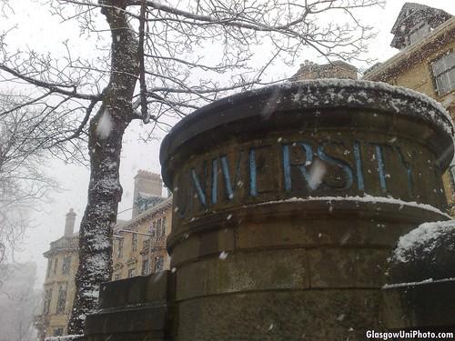 Snowy University Gardens