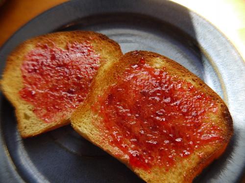 Brioche - Toasted with beach plum jam
