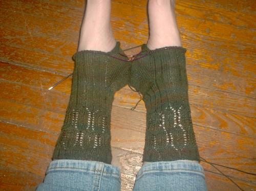 Beaded Mystery Socks - Clue 3
