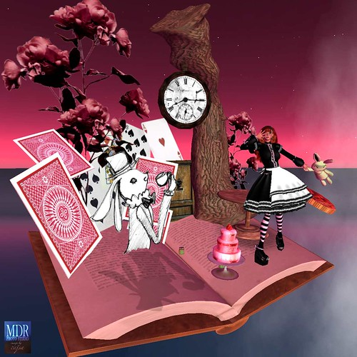 This was photographed using the wonderful Alice in Wonderland Book Tableau from Kurotsubaka