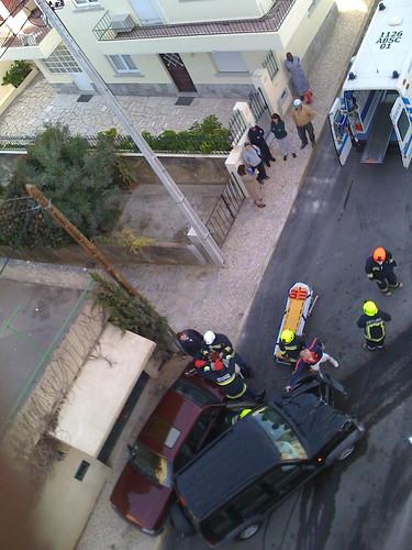 Acidente na Rua do Monte Leite