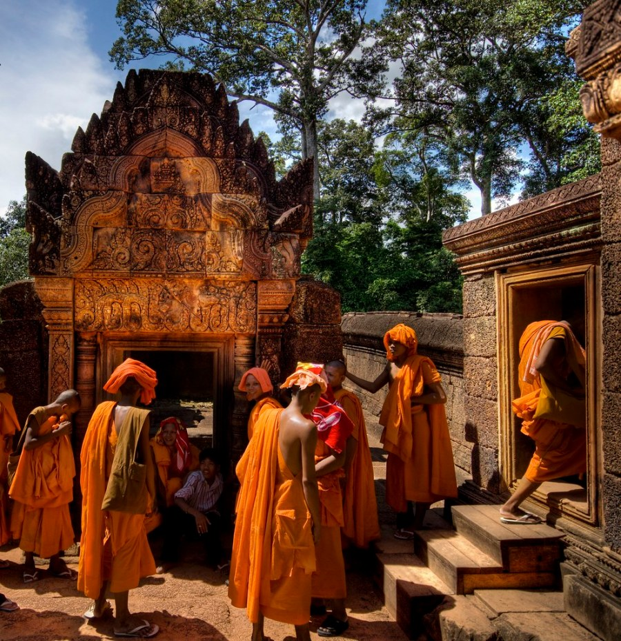 Young Buddhists about to endure the rites (by Stuck in Customs)