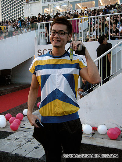 My colleague, Hock Chuan looking chic