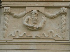 Hamburger Fassade - Lesender