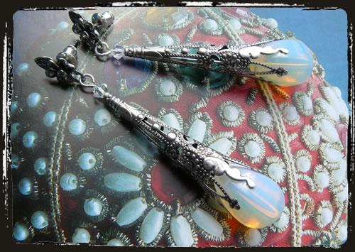 Orecchini bianchi - White earrings IECOBI