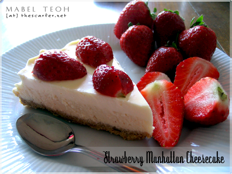 Strawberry Manhattan Cheesecake