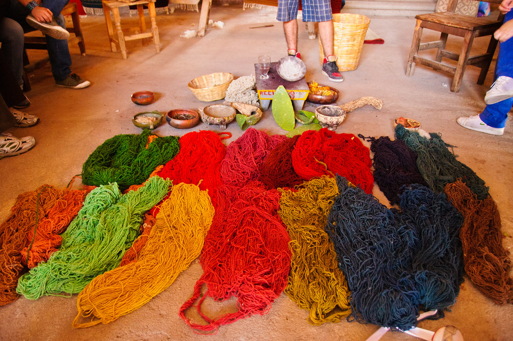 The colours available to the weavers