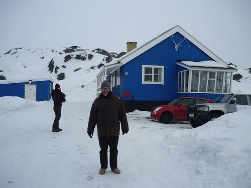 This is the house where my dad and his family spent six years when living in Sisimiut in the late 50s early 60s. We visited the family who lives there now - very kind people offering a much needed cup of coffee.