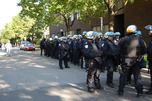 Riot police deployed throughout Point Saint-Charles