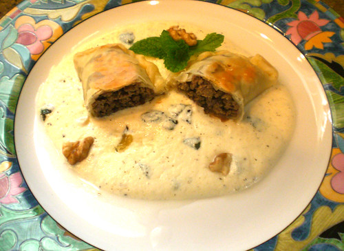 Shish- Barak (Beef Dumplings w/ Greek style yogurt) 14