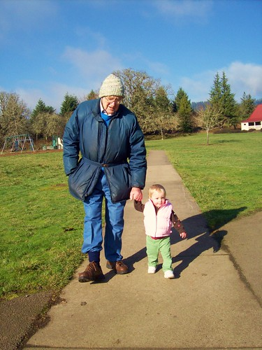 Greta and her Great-Grandpa John