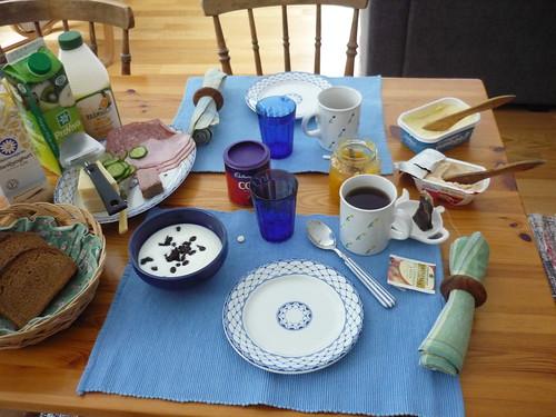 Typical Swedish breakfast