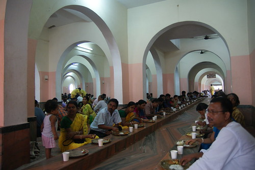 Devotees and guests take in the mercy