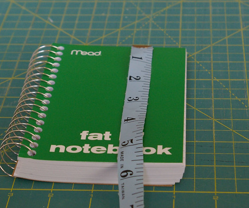 Measure the height of your notebook by you.