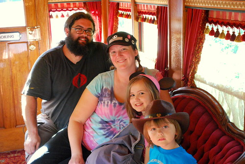 aboard the lilly belle car on the disneyland railroad