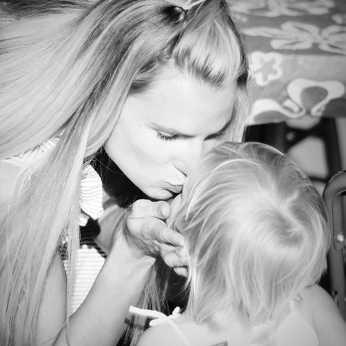 Mommy Kissing Avie