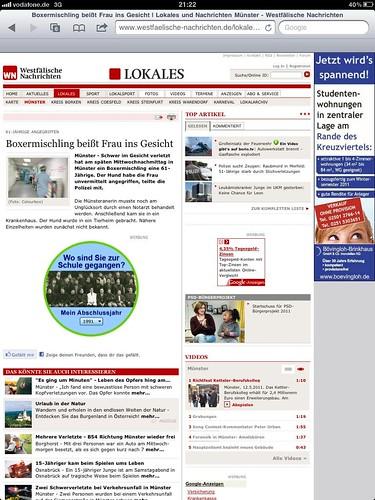 Westfälische Nachrichten, 12.05.2011 (Onlineausgabe)