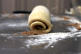 cinnamon buns, rolled and ready