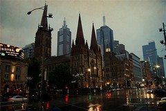 The colours of Melbourne in light rain