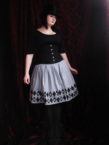 Alice skirt and black corset