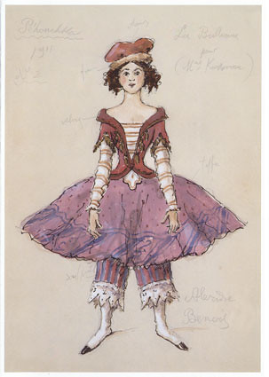 Tamara Karsavina - La ballerine, Petrushka - 1911