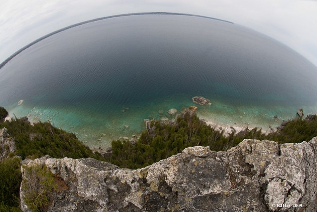 Looking over the edge - Lion's Head Point on the Bruce Trail