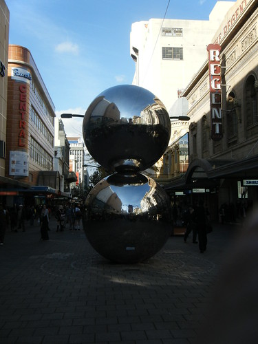 Sculpture on Rundle Mall