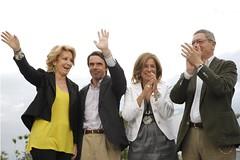 Esperanza Aguirre, José María Aznar, Ana Botella y Alberto Ruíz-Gallardón