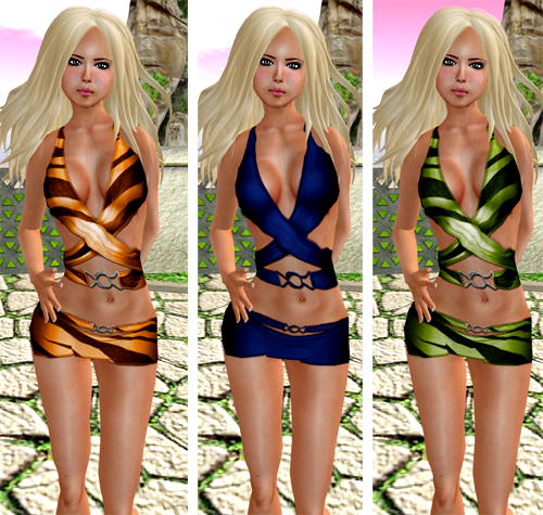 NEW! *elymode* Wrapped Swimsuit w/ skirt