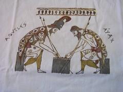 Aquiles y Áyax jugando a las damas