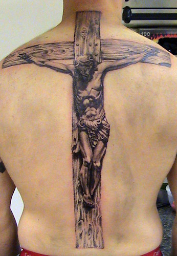 jesus on the cross tattoo by Mirek vel Stotker