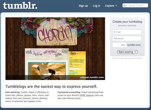 Tumblr.com Homepage