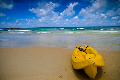 Found a lonely kayak beached