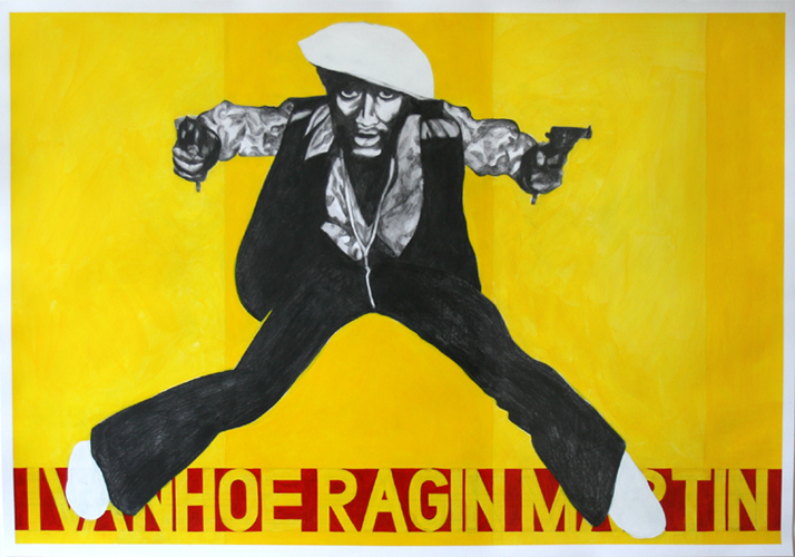 Ivanhoe Ragin Martin, Acrylic & Graphite on Paper, 100cm x 70cm by Robin Clare