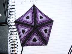 Plastic Canvas Icosahedron - Five Piece Cap