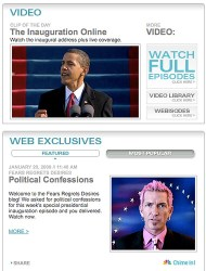 NBC.com homepage
