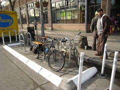 On-Street Bike Parking on Broadway
