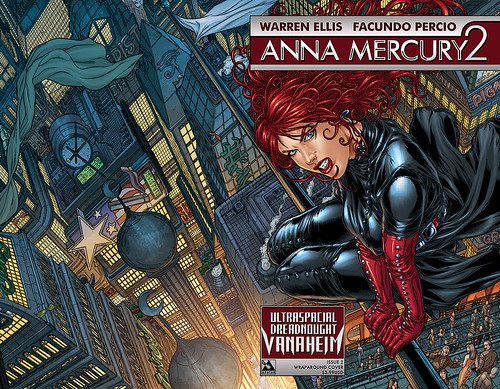 Anna Mercury 2: Ultraspacial Dreadnought Vanaheim #2 Wraparound by Avatar Press.