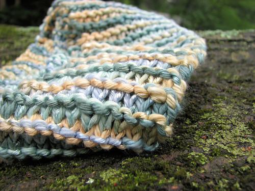 Long garter stitch scarf