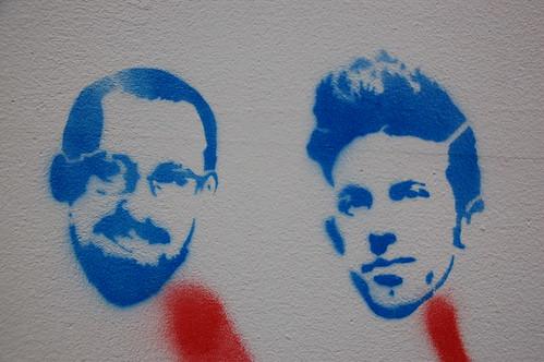 Faces of Affleck: Simon & Garfunkel? Gandhi & Elvis? by you.
