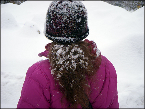 Snow-hat with ponytail