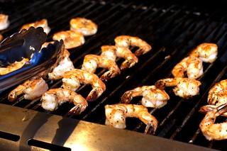 grilling jumbo shrimp
