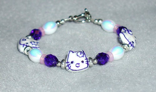 Pretty Blue Kitty Bracelet