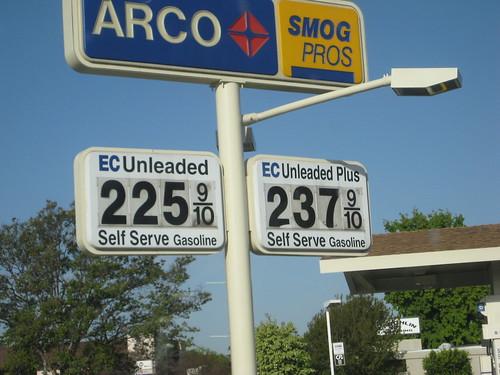 Price of gasoline - Apr 16 2009