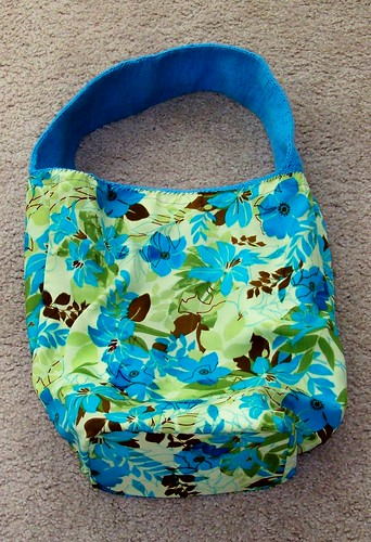 Blue Petunia Bag, inside out