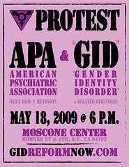 "APA ""gender identity disorder"" prote..."