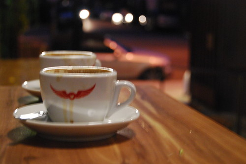 Intelligentsia Venice - Abandoned Espresso Cups (not mine) by you.